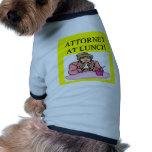 chiste divertido del abogado del abogado camisa de mascota