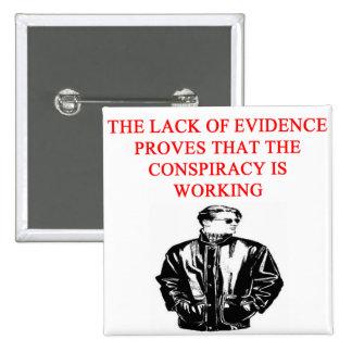 chiste divertido del afe de la teoría de conspirac pin