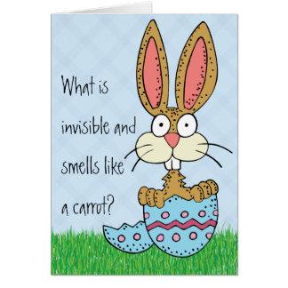 Chiste divertido del conejito de pascua tarjeta de felicitación