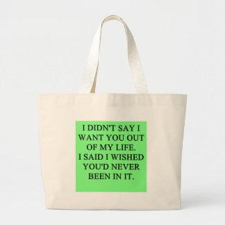 chiste divertido del divorcio bolsa lienzo