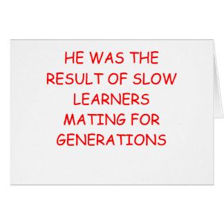 chiste divertido del divorcio tarjeta de felicitación