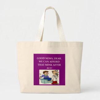 chiste divertido del doctor bolsas lienzo