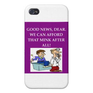 chiste divertido del doctor iPhone 4 funda