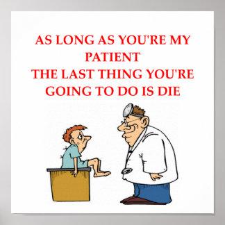 chiste divertido del doctor póster