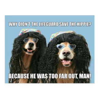 Chiste divertido del Hippie del salvavidas del Postal