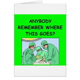 chiste divertido del médico tarjeta de felicitación