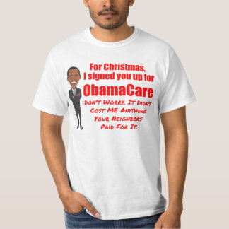 Chiste divertido del navidad de ObamaCare Playera