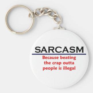 Chiste divertido del sarcasmo del KRW Llaveros Personalizados