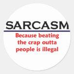 Chiste divertido del sarcasmo del KRW Etiqueta Redonda