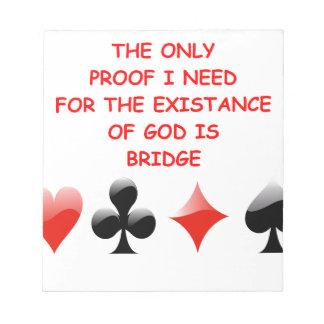chiste duplicado del puente bloc de papel