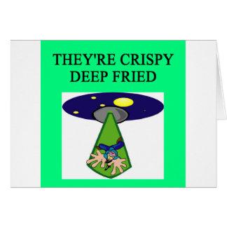 chiste extranjero del UFO del área 51 de la abducc Tarjeta De Felicitación