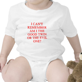 chiste gemelo malvado camiseta