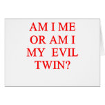 chiste gemelo malvado tarjetas