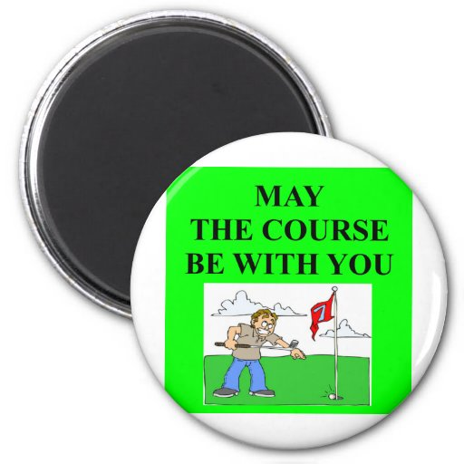 chiste golfing del golfista imán para frigorifico