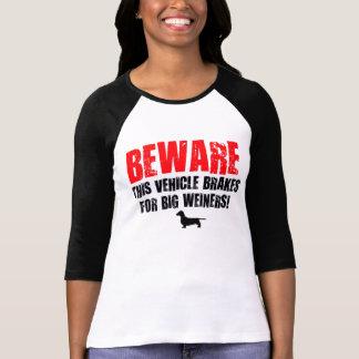 Chiste grande del perro de Weiner Tshirts