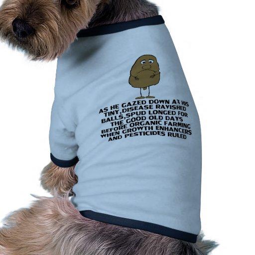 Chiste hilarante camiseta con mangas para perro