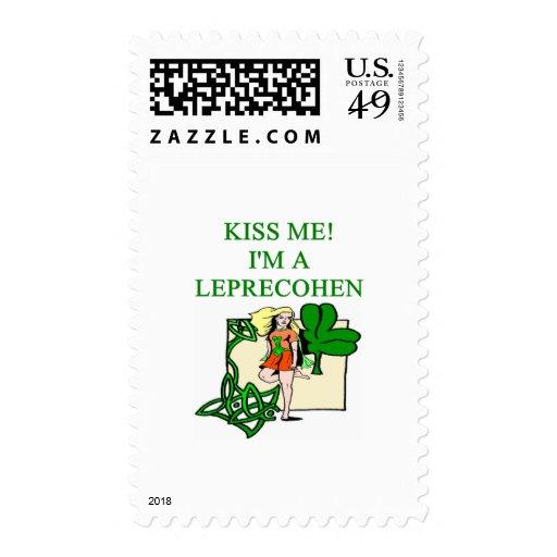 chiste judío del irlandés del leprechaun del día d sellos
