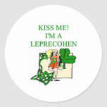 chiste judío del irlandés del leprechaun del día pegatina redonda
