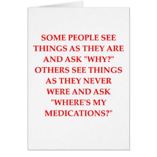 chiste loco del psiquiatra tarjeta de felicitación