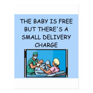 chiste obstetrian tarjeta postal