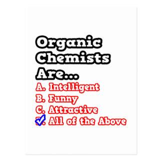 Chiste orgánico del concurso del químico… postal