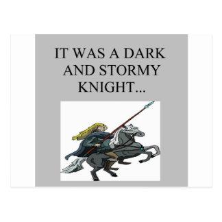 chiste oscuro y tempestuoso del cliché de la noche postales