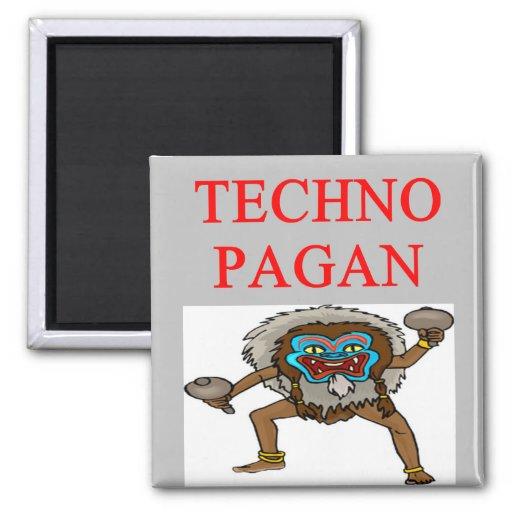 chiste pagano de la tecnología imán cuadrado