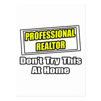Chiste profesional del agente inmobiliario… tarjetas postales
