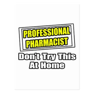 Chiste profesional del farmacéutico… tarjeta postal