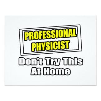 """Chiste profesional del físico… invitación 4.25"""" x 5.5"""""""