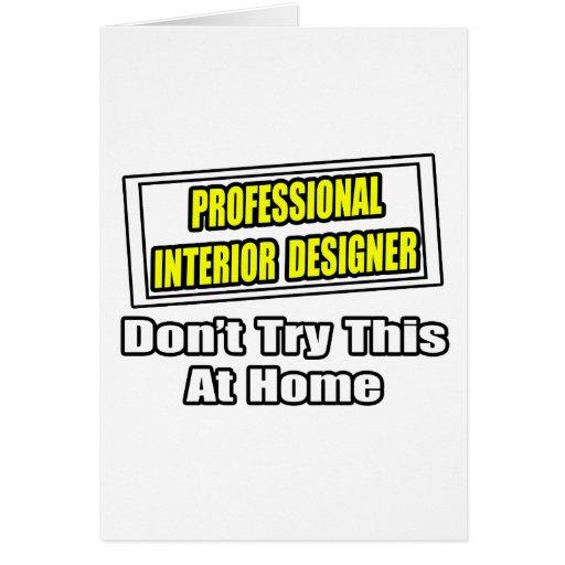 Chiste profesional del interiorista… tarjeta