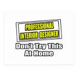 Chiste profesional del interiorista… tarjeta postal