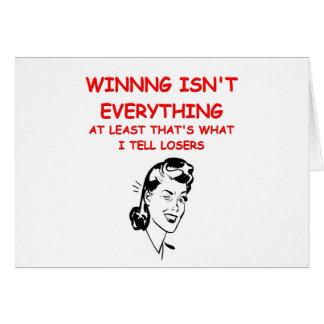 chiste que gana tarjeta de felicitación