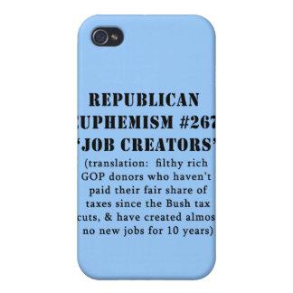 CHISTE republicano de los creador del trabajo del  iPhone 4/4S Carcasa