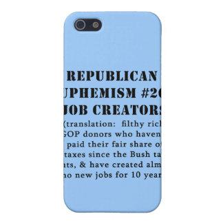 CHISTE republicano de los creador del trabajo del  iPhone 5 Protectores
