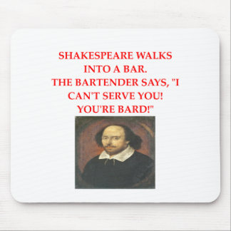 chiste shakespear mouse pad