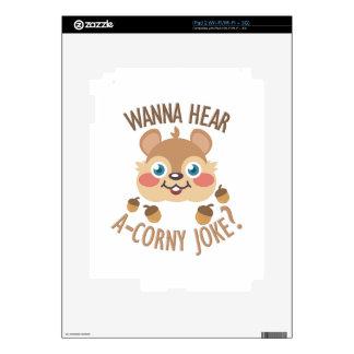Chiste Uno-Sensiblero iPad 2 Calcomanías