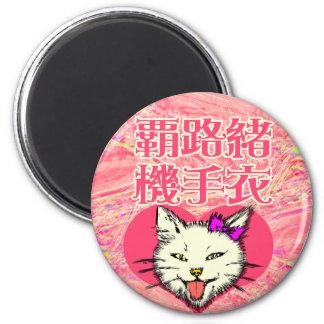 Chiste y parodia del gatito imán redondo 5 cm