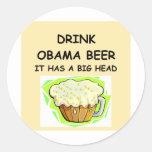 chistes antis de obama pegatina redonda