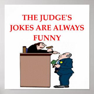 chistes del juez póster