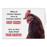 Chistes del pollo del cumpleaños con la foto de la tarjeta