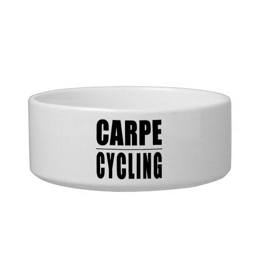 Chistes divertidos de las citas de los ciclistas:  tazón para gato