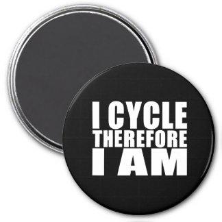 Chistes divertidos de las citas de los ciclistas:  imanes de nevera