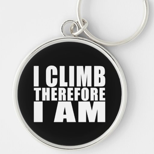 Chistes divertidos de las citas de los escaladores llavero redondo plateado