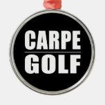 Chistes divertidos de las citas de los golfistas:  ornamento para arbol de navidad