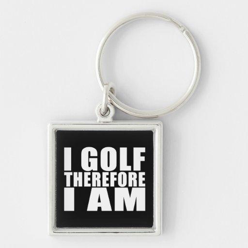 Chistes divertidos de las citas de los golfistas:  llavero personalizado