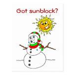 Chistes divertidos del navidad del muñeco de nieve postal