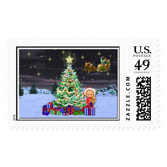 Chistmas at Night Postage