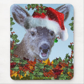Chistmas Baby Deer Fawn Mousepad