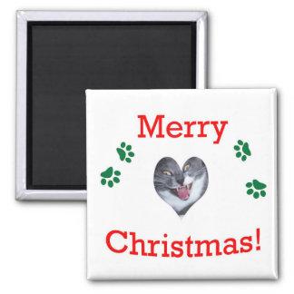 Chistmas Cat Refrigerator Magnet